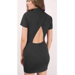 TOBI Eryca Body Con Mini Dress Cut Out Nock Neck
